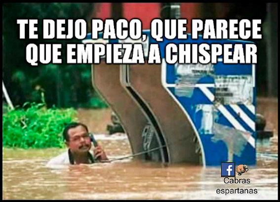 Los lunes con Humor a pesar de la lluvia. Hudipro