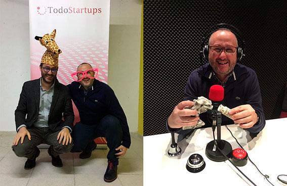 Los lunes con humor escuchando Startups Fun. Hudipro